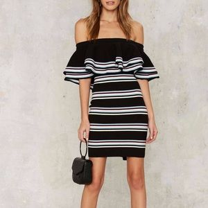 Nasty Gal off the shoulder dress